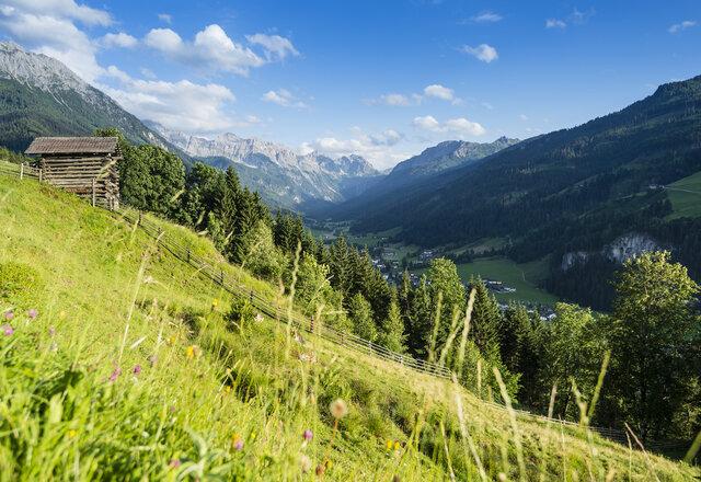 Aussicht hoch 2 nach Kleinarl © Wagrain-Kleinarl Tourismus